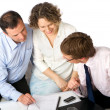 Royalty-Free Stock Photo: Signing or not signing?