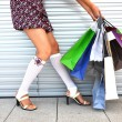 Girl with bunch of shopping bags — Stock Photo #8297213