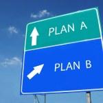 PLAN A -- PLAN B road sign — Stock Photo #8297392