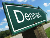 DENMARK road sign — Stock Photo