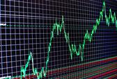 Stock diagram on the screen — Stock Photo