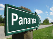 PANAMA signpost along a rural road — Stock Photo
