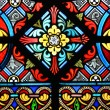 Stained glass in cathedral — Stock Photo #8317496