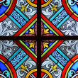 Stained glass in a cathedral — Foto Stock