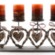Foto Stock: Four candles