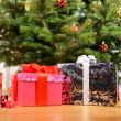 Gifts under the Christmas tree — Stock Photo #8317596
