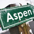 ASPEN road sign — Stock Photo