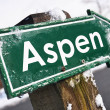 Stock Photo: ASPEN road sign