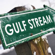 GULF STREAM road sign — Stock Photo