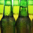 Row of beer bottles — Stock Photo