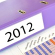 2012 folder on a market report — Stock Photo #8318178