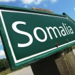 SOMALIA road sign - Stock Photo