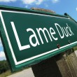Lame Duck road sign — Stock Photo #8318256