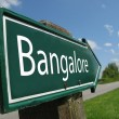 BANGALORE signpost along a rural road — Stock Photo