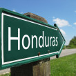 Honduras signpost along a rural road - Stock Photo