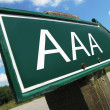 Stock Photo: AA(credit rating) road sign