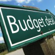 Stock Photo: Budget deal road sign