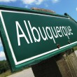 Stock Photo: Albuquerque road sign