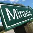 Stock Photo: Miracle road sign