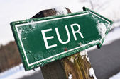 Eurotecknet road — Stockfoto