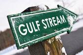GULF STREAM road sign — Stock Photo