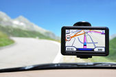 Satellite navigation system — Stock Photo
