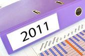 2011 folder on a market report — Stock Photo