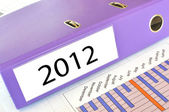 2012 folder on a market report — Stock Photo