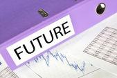将来市場レポート フォルダー — ストック写真