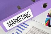 Cartella marketing su una relazione di mercato — Foto Stock