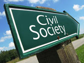 Civil Society road sign — Stock Photo
