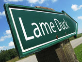 Lame Duck road sign — Stock Photo