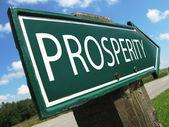 PROSPERITY road sign — Stock Photo