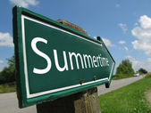 SUMMERTIME sign along a rural road — Stock Photo