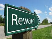 REWARD signpost along a rural road — Stock Photo