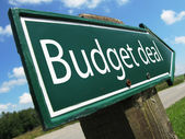 Budget deal road sign — Stock Photo