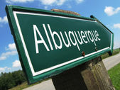 Albuquerque road sign — Stock Photo