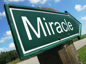 Miracle road sign — Stock Photo