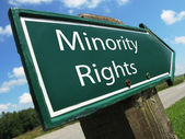 Minority Rights road sign — Stock Photo