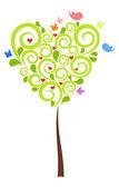 Valentine's Tree in green color — Stock Vector