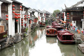 Traditional Suzhou river street — Stock Photo