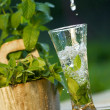 Fresh water with mint - Stock Photo