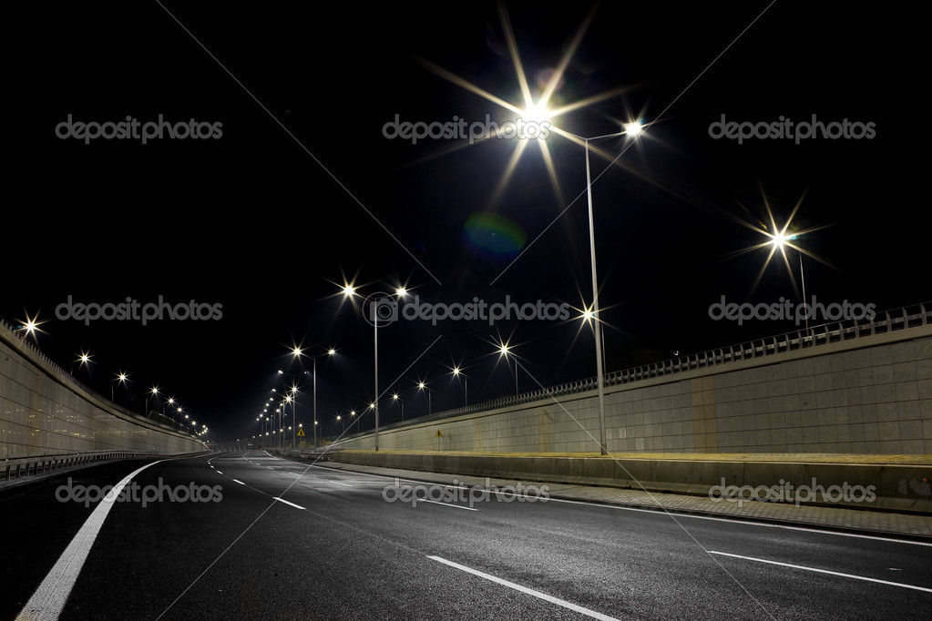 Road by night — Stock Photo #8340895