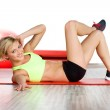 Woman doing fitness exercise — Stock Photo #8687046