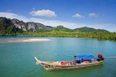 Long tailed boat at Krabi — Stock Photo