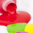 Spilled colorful paint — Stock Photo