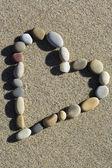 Hjärta av sten — Stockfoto