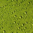 Stock Photo: Water drops on waterproof fabric