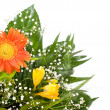 Gerbera daisy and freesia bouquet — Stock Photo
