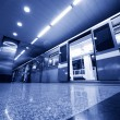 Subway. Underground train — Stock Photo